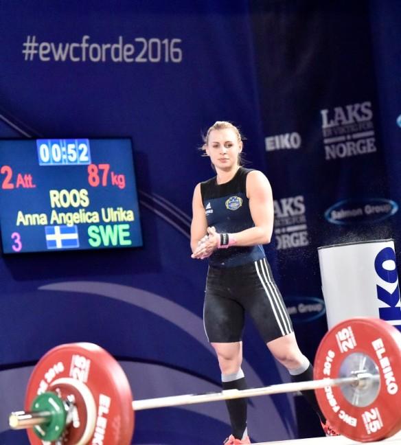 Angelica Roos, Mossebergs AK, klass 58, ryck, svenskt rekord 87 kilo,